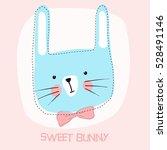 sweet bunny girl vector... | Shutterstock .eps vector #528491146