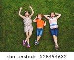 happy children having fun... | Shutterstock . vector #528494632
