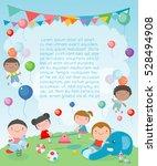 children in the playground ... | Shutterstock .eps vector #528494908