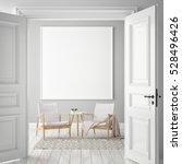 mock up poster frame in hipster ... | Shutterstock . vector #528496426