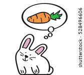 cute rabbit thinks about the... | Shutterstock .eps vector #528496606