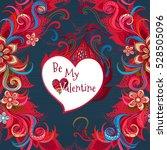 vector ornate floral card.... | Shutterstock .eps vector #528505096