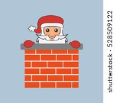 santa claus in the chimney.... | Shutterstock .eps vector #528509122