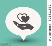 pictograph of heart in hand | Shutterstock .eps vector #528511582
