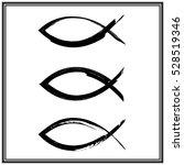 christian fish symbol. vector | Shutterstock .eps vector #528519346