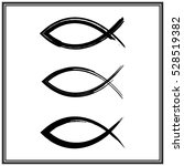 christian fish symbol. vector