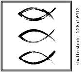 christian fish symbol. vector | Shutterstock .eps vector #528519412