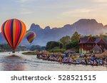 vang vieng  laos   november 2 ... | Shutterstock . vector #528521515