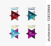 set of triangle geometric... | Shutterstock .eps vector #528528868