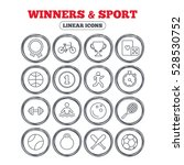 winners and sport icons. winner ... | Shutterstock . vector #528530752