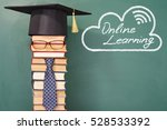 online learning funny education ... | Shutterstock . vector #528533392