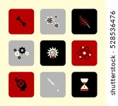 vector flat icons set   science ... | Shutterstock .eps vector #528536476