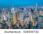 new york city skyline with... | Shutterstock . vector #528544732