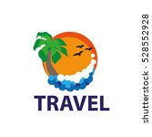 vector logo travel | Shutterstock .eps vector #528552928