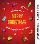 merry christmas post card ... | Shutterstock .eps vector #528554446