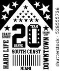 miami south coast t shirt print ... | Shutterstock .eps vector #528555736