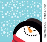 snowman vector cartoon cute... | Shutterstock .eps vector #528557092