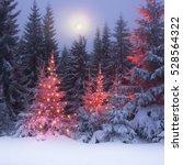night in the ukrainian...   Shutterstock . vector #528564322