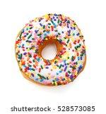 donut isolated on white... | Shutterstock . vector #528573085