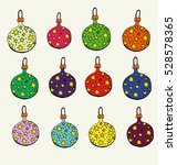 set of fun fun brightly colored ... | Shutterstock .eps vector #528578365