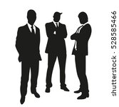 business people on silhouettes | Shutterstock .eps vector #528585466