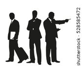 business people on silhouettes | Shutterstock .eps vector #528585472