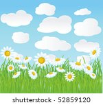 summer vector background. | Shutterstock .eps vector #52859120