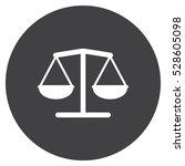 balance icon  flat design style | Shutterstock .eps vector #528605098