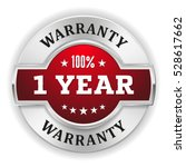 red one year warranty badge  ... | Shutterstock .eps vector #528617662