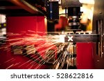 cutting of sheet metal. sparks... | Shutterstock . vector #528622816