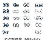 eyes collection cartoon | Shutterstock .eps vector #528625192