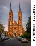 cathedral at lodz captured in... | Shutterstock . vector #528625516