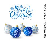 Blue Christmas Balls For Your...