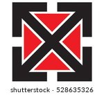 arrow icon. letter x vector... | Shutterstock .eps vector #528635326