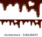 melted  chocolate  seamless... | Shutterstock . vector #528638692