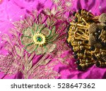 jewellery on fabric | Shutterstock . vector #528647362