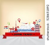 vector landmark of japan... | Shutterstock .eps vector #528651892