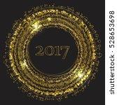 year 2017 in golden circles | Shutterstock .eps vector #528653698