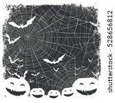 halloween border for design.... | Shutterstock . vector #528656812