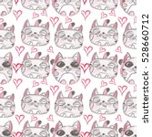 hand drawn seamless pattern.... | Shutterstock . vector #528660712