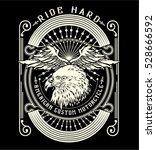 motorcycle eagle  helmet wing... | Shutterstock .eps vector #528666592
