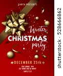 merry christmas party layout... | Shutterstock .eps vector #528666862