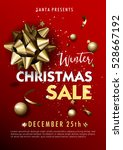 christmas or new year sale... | Shutterstock .eps vector #528667192