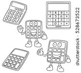 vector set of calculator | Shutterstock .eps vector #528673522