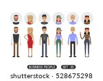 business people set 35 isolated ... | Shutterstock .eps vector #528675298