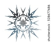 snowflake. isolated. 3d... | Shutterstock . vector #528677686