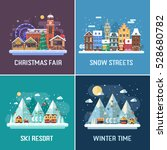 new year and winter travel... | Shutterstock .eps vector #528680782