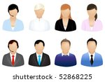 set of business people icons ... | Shutterstock .eps vector #52868225