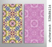 vertical seamless patterns set  ... | Shutterstock .eps vector #528686116