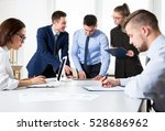 business people having a... | Shutterstock . vector #528686962